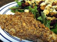 Flounder takes on a new texture and flavor when crusted with pecans. It's so tasty!