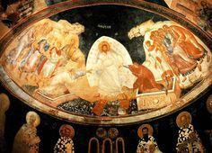 Anastasis.  1310—20. Fresco. Kariye Camii