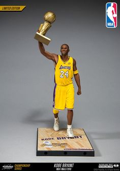 McFarlane Toys NBA Kobe Bryant Limited Edition Championship Series - NBA  Finals 2010 (Home yellow  24 jersey) 10086b686