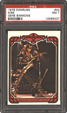 Gene Simmons 1978 Trading Cards | 1978 Donruss Kiss Kiss (Gene Simmons) | PSA CardFacts™