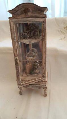 Miniatura  mobile vetrina  Stile Shabby  scala 1:12