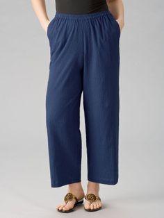 Ulla Popken Cotton Gauze Pants $39.00
