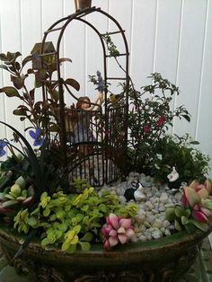 Making Fairy Gardens