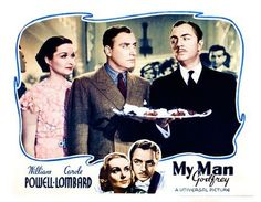 Carole Lombard, William Powell, Alan Mowbray and Gail Patrick in My Man Godfrey (1936)