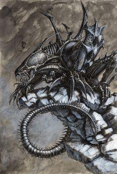 El Diablo, The Hunter of Men (Alien vs Predator) Custom Action Figure [El Diablo] Alien Creatures, Fantasy Creatures, Arte Horror, Horror Art, Saga Alien, Giger Art, Hr Giger, Alien Photos, Giger Alien