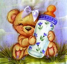 <3 Nursery Paintings, Animal Paintings, Nursery Art, Teddy Bear Images, Tiger Wallpaper, Country Bears, Pintura Country, Cute Teddy Bears, Cold Porcelain