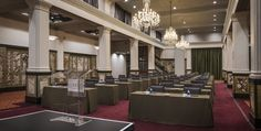 at Taj Cape Town is a beautifully restored Art Deco building where the splendour of a golden age plays host to a variety of events Art Deco Buildings, Cape Town, Golden Age, Plays, Restoration, Conference Room, Events, Table, Furniture