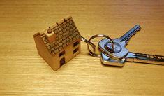 House Keyring, Ridge Tiles, House Keys, Door Sets, House Gifts, Wooden Gifts, Wooden House, Little Houses, Wooden Doors