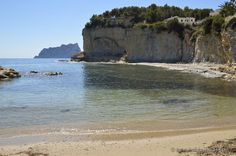 beach advocat with view to Calpe