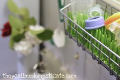 Modify your Boon grass drying rack to fit an Ikea basket via theycallmedomesticate