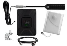 4G RV Signal Booster - Outside Omni Trucker Antenna and Inside Panel antenna with weBoost Drive 4G-X 470510 Amplifier