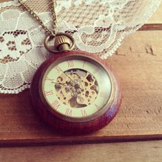 Hey, I found this really awesome Etsy listing at https://www.etsy.com/listing/118232732/1-wood-wind-up-pocket-watch-necklace