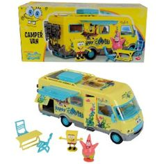 Spongebob Squarepants Camper Van Playset: The 40 cm SpongeBob Camper Van is friction powered and features opening doors, roof and windows. The camper van includes moving parts, accessories and two. Best Christmas Toys, Christmas Gingerbread House, Legos, Spongebob Squarepants Toys, Super Mario Toys, Hot Toys Iron Man, Wooden Truck, Kids Ride On, Anime Dolls