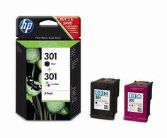 nice HP 301 - Cartucho de tinta para impresoras (Negro, Cian, Magenta, Amarillo, 130 ml, 190 páginas, 20 - 80%, -40 - 60 °C, 15 - 32 °C)