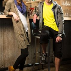 #KAPPAssion. athletic wear in a swanky bar. contrast.