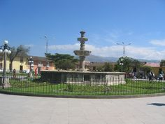 Pileta de la Plaza de Armas de Cajamarca.