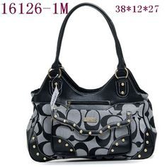 Coach Black and gray purse