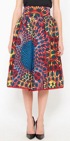 cotton multicolor skirt