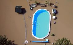 Intact pool in the flood that hit Germany #thanksreddit