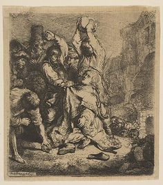 The Stoning of St. Stephen Rembrandt (Rembrandt van Rijn)  (Dutch, Leiden 1606–1669 Amsterdam) Date: 1635 Medium: Etching Classification: Prints Credit Line: Harris Brisbane Dick Fund, 1947 Accession Number: 47.100.87