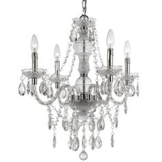I pinned this Vogue Mini Chandelier in Clear from the AF Lighting event at Joss and Main!