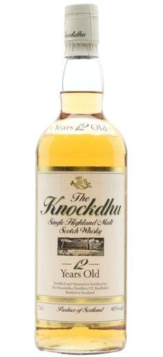 Knockdhu 12 yo Single Highland Malt Whisky - the very first official bottling from 80s/90s