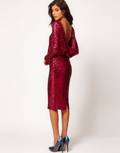 Asos Sequin Cowl Back Dress  Can one of my friends please wear this to my NYE Wedding!? @Kathryn @Katie Gallagher
