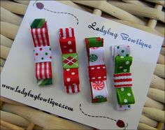 Christmas Bows -- very cute idea!