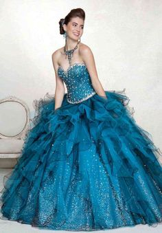 Extravagant Sweetheart Neckline Quinceanera Dress with Sequins and Cascading Ruffles, Quinceanera Dresses Elegant Dresses, Pretty Dresses, Formal Dresses, Wedding Dresses, Bridesmaid Dresses, Prom Dress 2014, Homecoming Dresses, Dresses 2014, Dresses Dresses