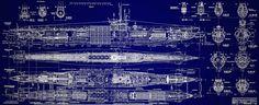 German UBoat Submarine Blueprint #1