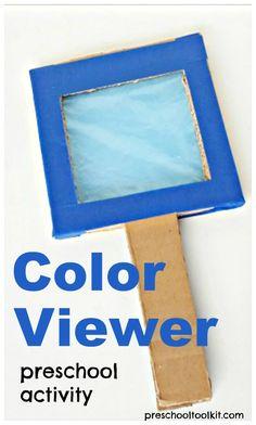 color viewer preschool science and sensory activity