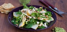 Glazed Pears and Goat Gouda Cheese Salad with a Honey & Red Wine Vinaigrette | W Network