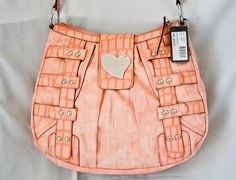 6accaf6183a7 NWT GUESS Handbag Evangeline White Satchel Bag Tote Coral Pink size Large   Guess  Satchel
