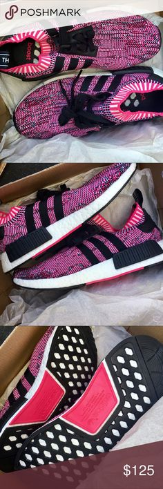 BRAND NEW IN BOX NMD r1s BRAND NEW IN BOX Adidas NMD r1 Primeknits .. womens size 7, way too big for me!!! (I'm a 7.5 and would need a 6.5 in these. would recommend everyone to buy a size smaller than what they normally wear) adidas Shoes Sneakers