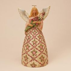 With Prayer All Things Are Possible ... Breast Cancer Awareness Angel Figurine