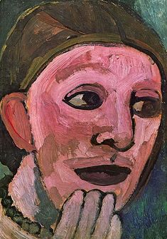 Paula Modersohn-Becker SELBSTPORTRÄT (Self-portrait) 1906-1907 oil and tempera on paper 26.5 x 18.5 cm, private collection GERMAN EXPRESSIONISM