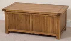 Cotswold Rustic Solid Oak Blanket Box Chest Trunk Bedroom Storage Unit Wooden