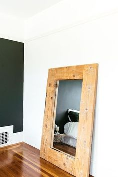 Oversized Mirror  - Natural Wood Accents For A Cozy Rustic Style - Photos
