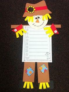Scarecrow-Craftivity-and-Writing-Activities-901080 Teaching Resources - TeachersPayTeachers.com