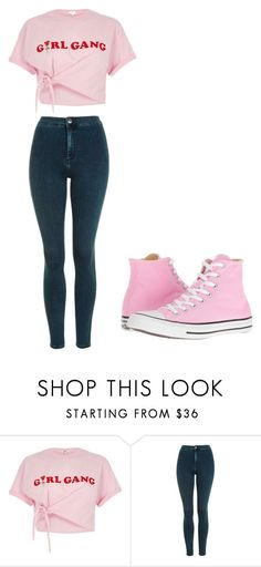 """Untitled #300"" by thenerdyfairy on Polyvore featuring River Island, Topshop and Converse"