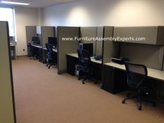Used Office Cubicles Embled And Reconfigured In Baltimore Md By Furniture Embly Experts Llc