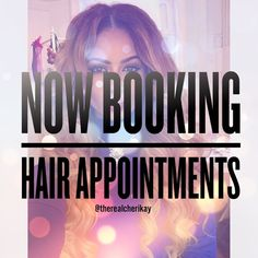 Hair Appointments Available (NYC/Long Island) Now Taking Hair Appointments for anyone who is interested. Follow me IG: @therealcherikay and @flawless.faceandhair also Visit my website to book appointments: www.styleseat.com/cherniquekiera Accessories Hair Accessories