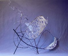 willow, hand made paper Dimensions : 76 cm X 30 cm X 70 cm