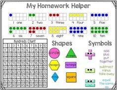 Kindergarten Homework Helper Freebie