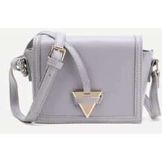 Triangle Detail PU Crossbody Bag (7.795 HUF) ❤ liked on Polyvore featuring bags, handbags, shoulder bags, purses, purse shoulder bag, pu handbags, strap purse, triangle purse and man bag
