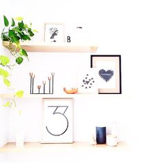 Beautiful styling by @misskyreeloves on Instagram, including Yorkelee Prints home wall art.