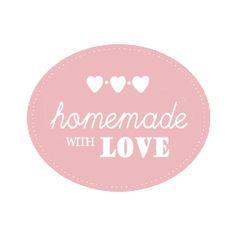 Homemade with love label | homemade hand scrub