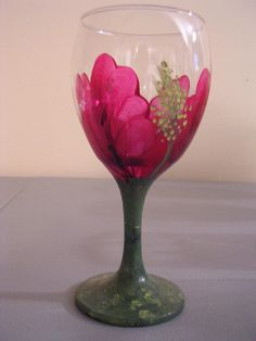FLORAL FANTASY WINE GLASS - HIBISCUS by Jade Scarlett, via Flickr
