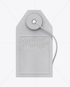 Paper Label With String Mockup – Front View