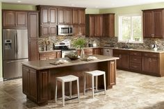 Kitchen cabinets home depot with brown theme kitchen landscape kitchen cabinet hampton bay has oven microwave and cooker hob cabinet design and refrigerator outlet marble countertop over tile kitchen floor kitchen cabinet faucet and sinking bar